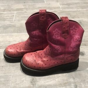 Roper pink boots
